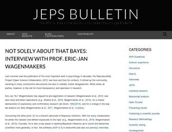 Main page screenshot of blog.efpsa.org