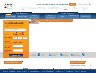 Thumbshot of Maxlifeinsurance.com
