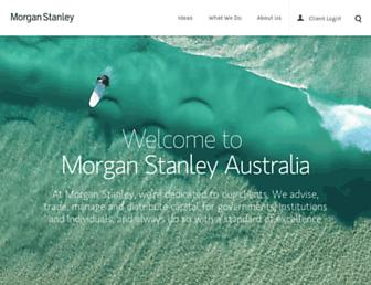 morganstanley.com.au screenshot