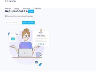lusha.co screenshot