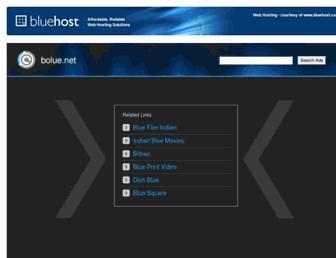 Main page screenshot of bolue.net