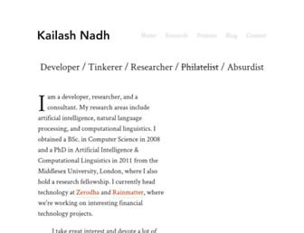 Main page screenshot of nadh.in