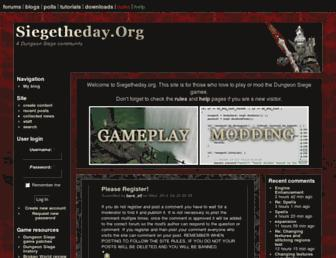 siegetheday.org screenshot