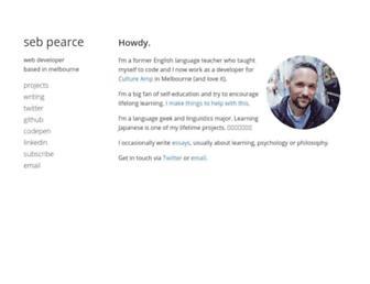 Thumbshot of Sebpearce.com
