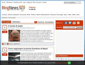 Main page screenshot of blog-news.it