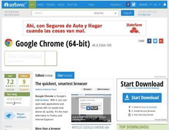 chrome-64-bit.en.softonic.com screenshot