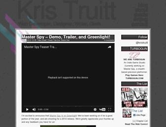 kristruitt.com screenshot