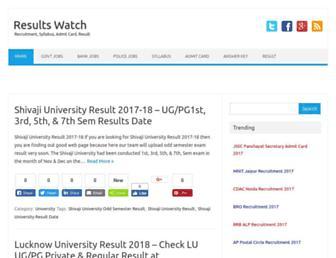 resultswatch.in screenshot