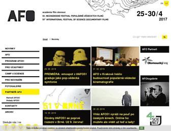Main page screenshot of afo.cz