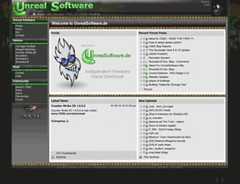 unrealsoftware.de screenshot