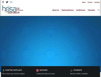 Main page screenshot of schosa.org