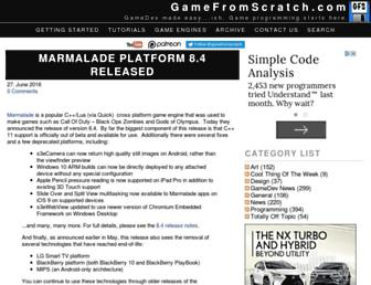 gamefromscratch.com screenshot