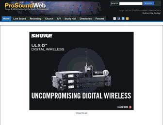 prosoundweb.com screenshot