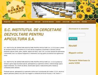 Main page screenshot of icdapicultura.ro