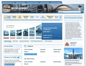 Main page screenshot of panynj.gov