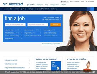 randstad.ca screenshot