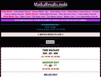 matkaresults.mobi screenshot