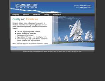 Main page screenshot of dbss.biz