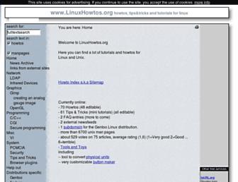 linuxhowtos.org screenshot