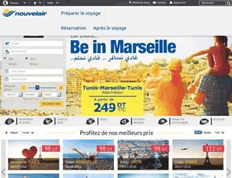 nouvelair.com screenshot