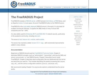 freeradius.org screenshot