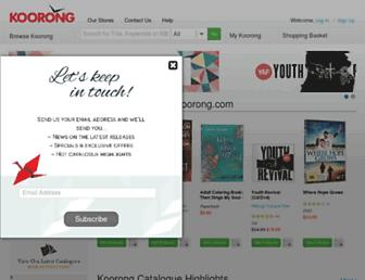 koorong.com screenshot