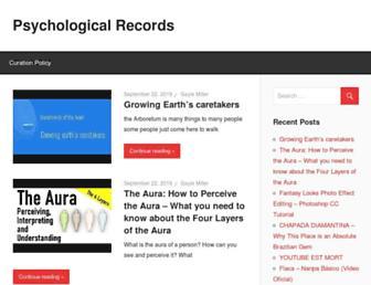 psychologicalrecords.com screenshot
