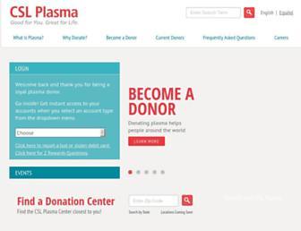 Thumbshot of Cslplasma.com