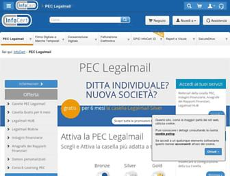 Main page screenshot of legalmail.it