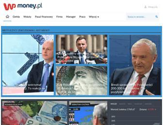 Main page screenshot of money.pl