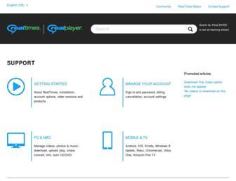 customer.real.com screenshot