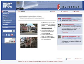 library.fes.de screenshot