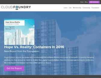 Thumbshot of Cloudfoundry.org
