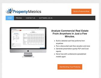 propertymetrics.com screenshot