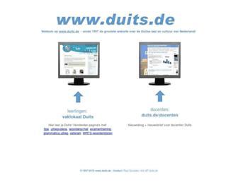 Main page screenshot of duits.de