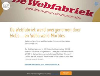 Main page screenshot of webfabriek.be