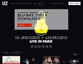 u2.com screenshot