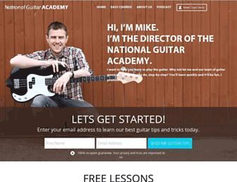 nationalguitaracademy.com screenshot
