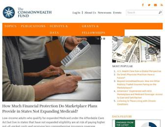 Thumbshot of Commonwealthfund.org