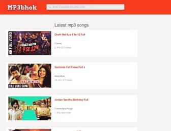 mp3bhuk.com screenshot