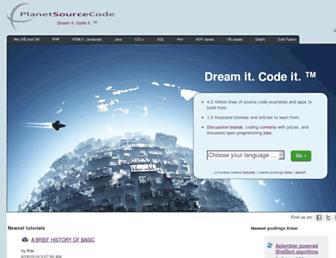 planetsourcecode.com screenshot