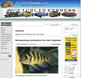 cichlid-forum.com screenshot