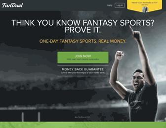 fanduel.com screenshot