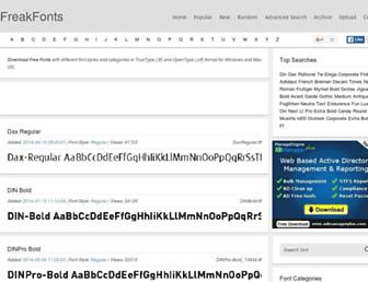 freakfonts.com screenshot