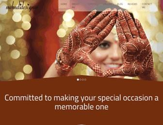 mehndidesigner.com screenshot