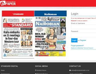 epaper.standardmedia.co.ke screenshot