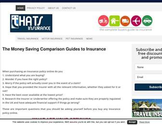 thatsinsurance.com screenshot