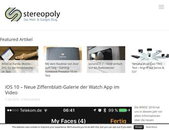 Main page screenshot of stereopoly.de