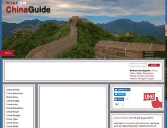 Main page screenshot of china-guide.de
