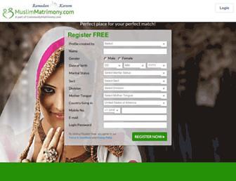 muslimmatrimony.com screenshot